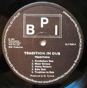 Tradition - Tradition In Dub