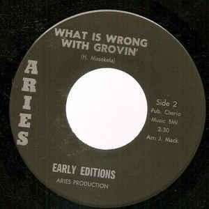 Early Editions - People Try / What Is Wrong With Grovin'
